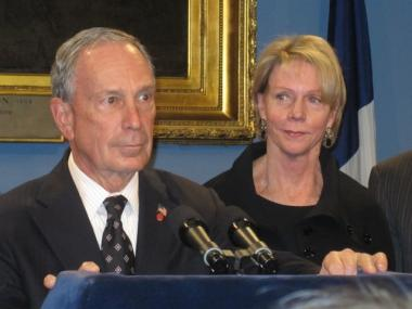 Mayor Michael Bloomberg with his new schools chancellor, Cathie Black.