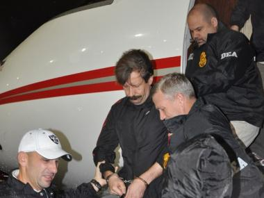 Arms dealer Viktor Bout arrived in New York City after being extradited from Thailand.