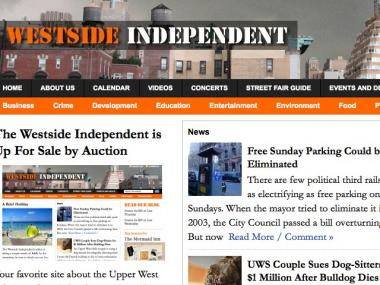 The Westside Independent, a neighborhood blog, is up for sale on eBay.