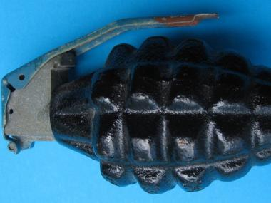 Police found a hand grenade in an apartment on the Lower East Side.