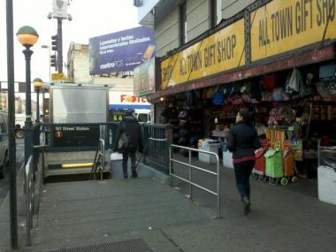 The 1 train entrance at 181st Street.