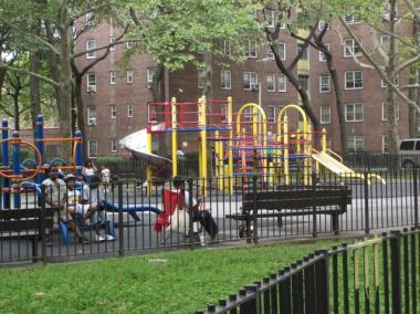 A playgrounds at St. Nicholas Houses.