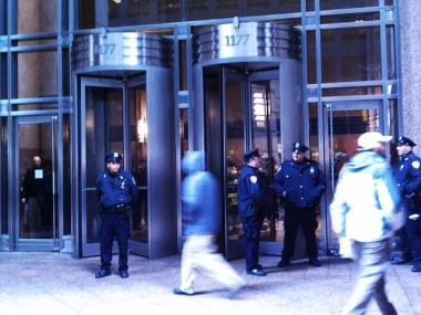 Police evacuated 1177 Sixth Ave. Wednesday after Bank Hapoalim received what they believed was a suspicious package.
