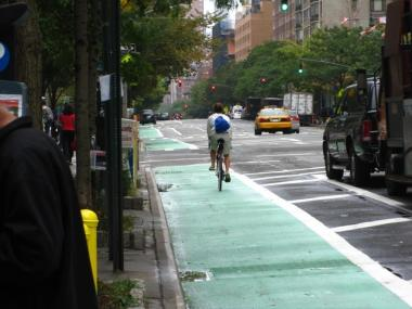 Local officials are interviewing merchants about whether new bike lanes on Columbus Avenue are hurting their businesses.