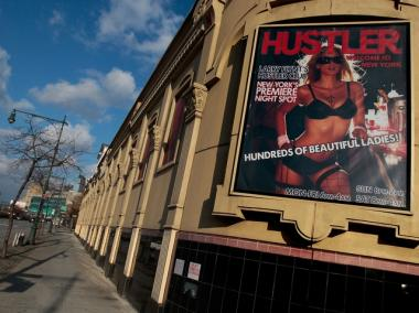 Larry Flynt's Hustler Club is one of the 'adult' businesses currently operating within the proposed rezoning area.