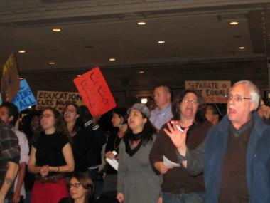 Dozens of parents spoke in opposition of the school moves and closures voted on Wednesday night.