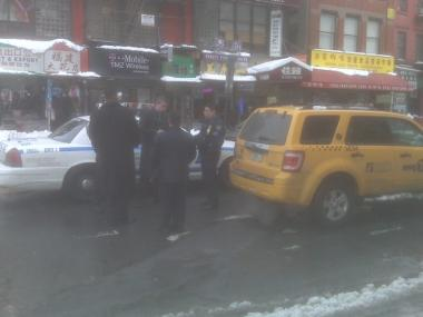 Police responded to a traffic accident in Chinatown where an elderly woman was hit by a cab.