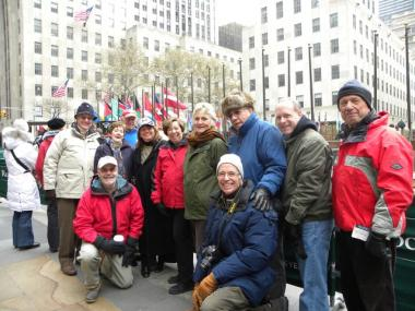 A busload of volunteers from the Newburgh affiliate of Habitat for Humanity traveled to Manhattan to watch the tree turned into lumber.