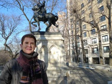 Upper West Sider Valerie Thaler spent several months poring over historical documents to uncover the origins of the Joan of Arc statue at West 93rd Street and Riverside Drive.