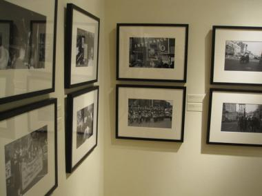 Some of the photos on display at the Schomburg.