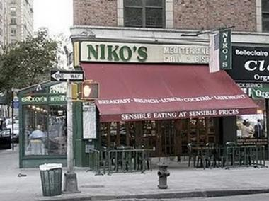 Niko's Mediterranean Grill & Bistro on Broadway and West 76th Street recently closed.