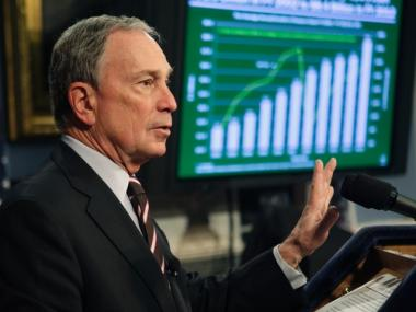 New York City Mayor Michael Bloomberg delivered his fiscal year 2012 budget, Thursday, Feb. 17, 2011 at City Hall.