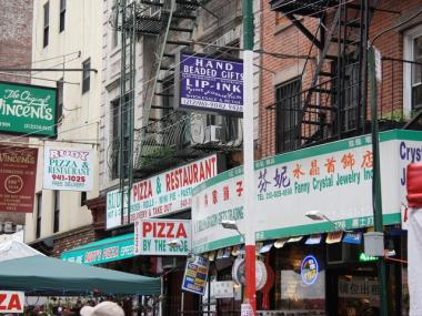 Nearly half of the people living in Little Italy are reportedly Asian-born.