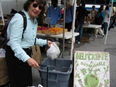 Composting is now available at the Union Square Greenmarket, but a pilot program will soon expand to three more Manhattan sites.