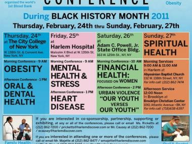 A poster promoting this weekend's Urban Health Conference.