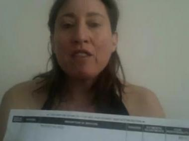 An image from Suzannah Troy's video posting about her Beth Israel bills.