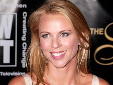 CBS news chief foreign correspondent Lara Logan at The 33rd Annual American Women in Radio & Television's Gracie Allen Awards on May 28, 2008.