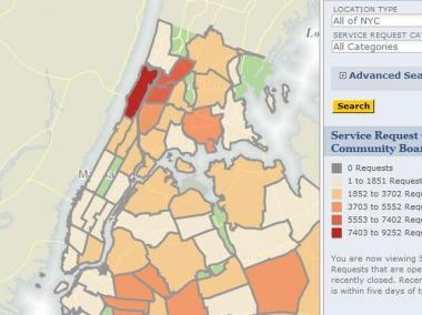 311 Complaint Map City Launches Online Map of 311 Complaints   Manhattan   New York