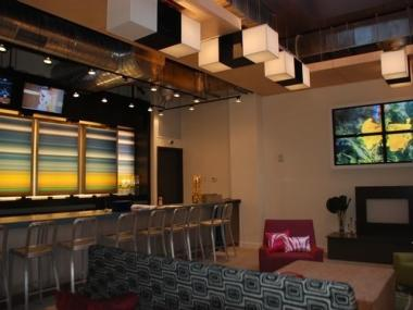 The w xyz bar at Aloft Harlem Hotel.