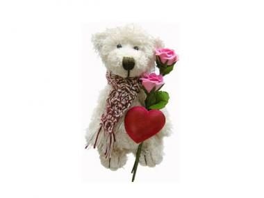 Teddy bears with silk flowers and hearts might not be everyone's cup of tea.