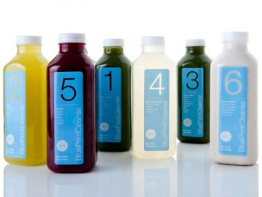 A BluePrintCleanse regimen includes six juices a day, and no food.