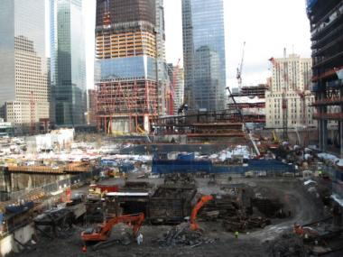 The Deutsche Bank site in February 2011, shortly before the demolition of the building was completed.