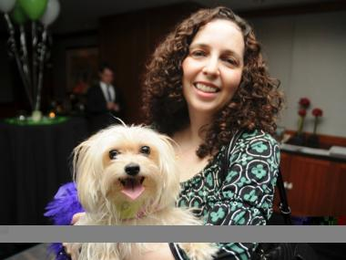 Susan Goodwin with her Morkie, Tasha.