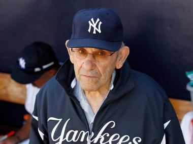 Yankee legend Yogi Berra was taken to the hospital after falling down during a spring training game on March 10, 2011.