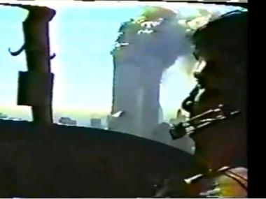 A leaked NYPD helicopter video shows the toppling of the World Trade Center towers on 9/11.