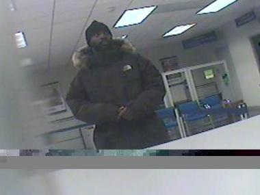 Police are looking for this man in connection with a bank robbery at the Citibank on Adam Clayton Boulevard between 144 and 145 streets about 11:30 a.m. March 8.