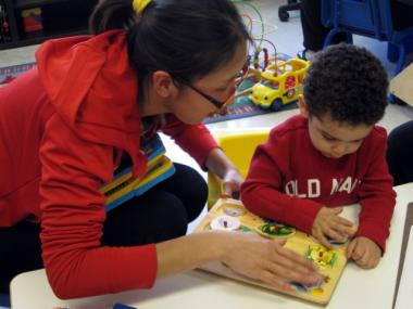 A young boy with developmental delays worked on a puzzle recently at Hand In Hand Development on the Lower East Side, part of the state's Early Intervention program.