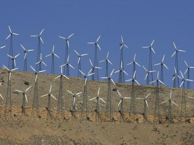 Clean-energy windmills, like those pictured here, are among the projects being funded by New Yorkers through a surcharge on their ConEd bills.