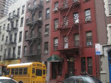 A fire in a Murray Hill apartment left one person hurt.