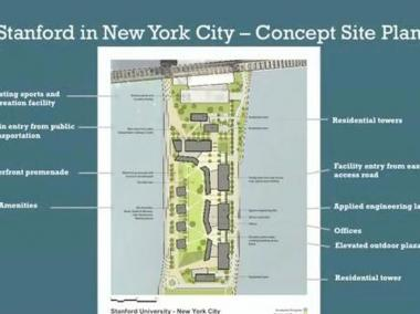 Standford released plans for their proposed Roosevelt Island campus.