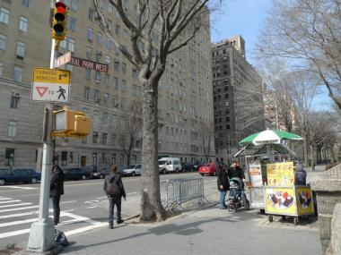 The minimum bid for a vending spot near Central Park West and West 81st Street is $64,050.