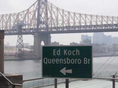 "The new ""Ed Koch Queensboro Bridge."