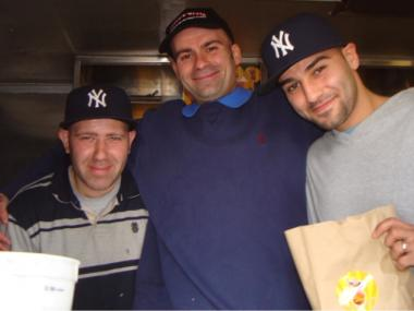 The Frites 'N' Meats brothers before the crash, from left, Ali, Hiassam and Mohamed Beydoun.
