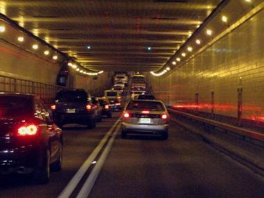 An accident on the New Jersey side of the Lincoln Tunnel closed down he outbound lane Tuesday morning.