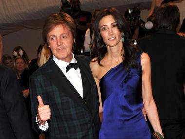 Musician Paul McCartney and MTA Board member Nancy Shevell out on the town in New York.