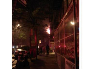 No injuries were reported from the second alarm fire at 1 Bennett Avenue in Washington Heights.