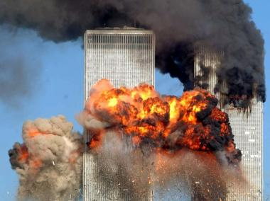 Hijacked United Airlines Flight 175 from Boston crashes into the south tower of the World Trade Center and explodes at 9:03 a.m. on September 11, 2001 in New York City. The crash of two airliners hijacked by terrorists loyal to al Qaeda leader Osama bin Laden and subsequent collapse of the twin towers killed some 2,800 people.