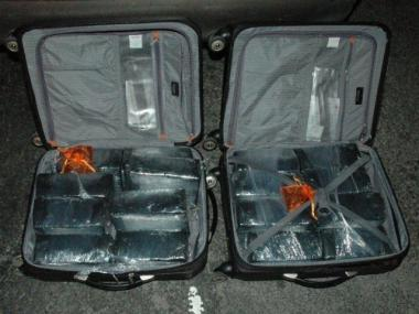 Suitcases filled with cocaine from the bust of alleged coke kingpin Ricardo Gonzalez-Santiago.