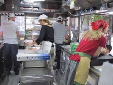 Inside the new Red Hook Lobster Pound truck.