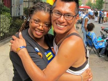 Harlem Pride co-founders Carmen Neely and Lawrence Rodriguez at last year's festival.