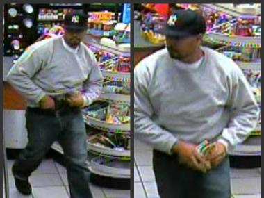 This is the man wanted for robbing two Upper Manhattan gas stations at gunpoint, according to police.