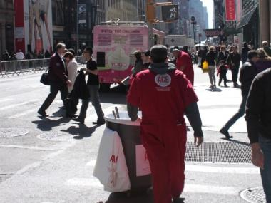 An ACE worker on the job on Broadway
