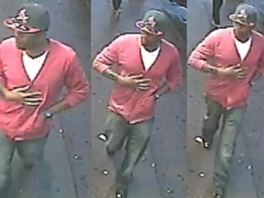 This is the suspect wanted in a pair of choking robberies in Union Square and Chinatown.