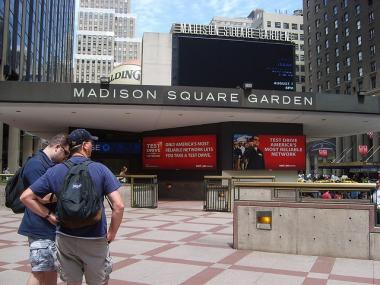 The offices at Madison Square Garden were the scene of a small fire Saturday morning.