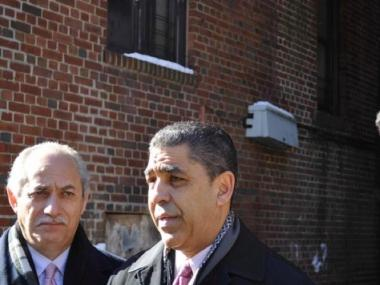 Assemblyman Guillermo Linares and State Sen. Adriano Espaillat stood on the steps of City Hall with a coalition of Latino politicians to call on Albany to pass marriage equality legislation.