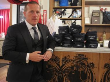 Scott Schuman, the photographer behind influential fashion blog The Sartorialist, at Kiehl's in the East Village.
